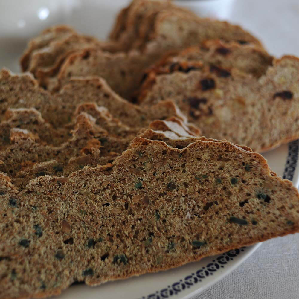 soda bread doorgesneden