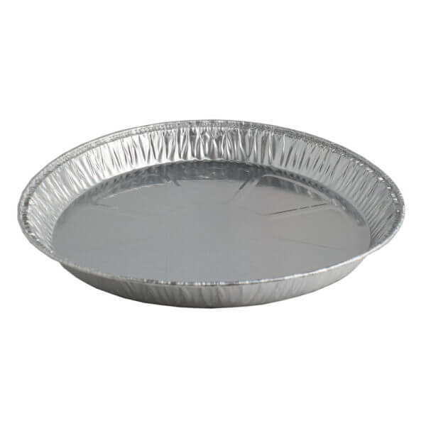 Aluminium ronde wegwerp vorm doorsnede 20,3 cm hoogte 2,5 cm-0