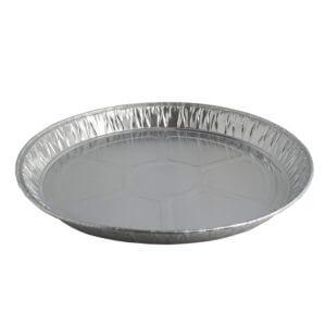 Aluminium ronde wegwerp vorm doorsnede 23,5 cm hoogte 2,5 cm-0