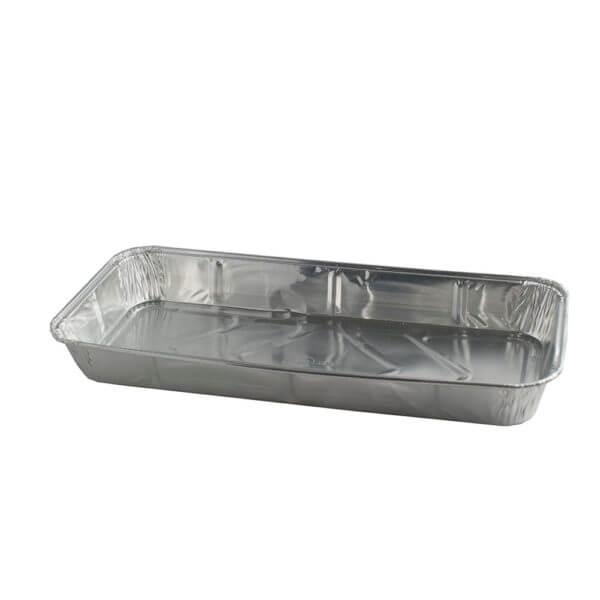Aluminium wegwerp vorm rechthoekig 26 x 11,5 cm hoogte 2,8 cm-0